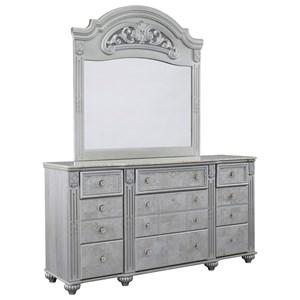 Glam Dresser and Mirror Set