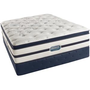 Simmons Beautyrest Recharge Ultra - Caroline  Cal King Plush Pillow Top Mattress Set