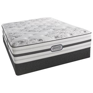 """Queen Luxury Firm 14.5"""" Mattress and Low Profile Triton Foundation"""