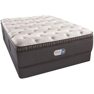 "King 16"" Plush Pillow Top Coil on Coil Mattress and Triton Foundation"