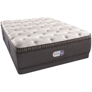 "Full 16"" Plush Pillow Top Coil on Coil Mattress and Low Profile Triton Foundation"