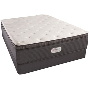 "Twin Extra Long 15"" Plush Pillow Top Mattress and Triton Foundation"