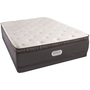 "Full 15"" Plush Pillow Top Mattress and Low Profile Triton Foundation"