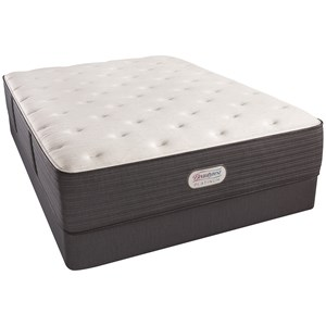"Cal King 14"" Plush Platinum Mattress and Triton Foundation"