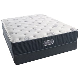 "King 12"" Luxury Firm Pocketed Coil Mattress and Triton Foundation"