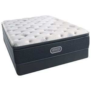 "Twin Extra Long 14"" Plush Pillow Top Pocketed Coil Mattress and Triton Foundation"