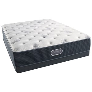 "Cal King 12"" Plush Pocketed Coil Mattress and Low Profile Triton Foundation"