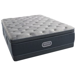 "Queen 15.5"" Luxury Firm Summit Pillow Top Pocketed Coil Mattress and Low Profile Triton Foundation"