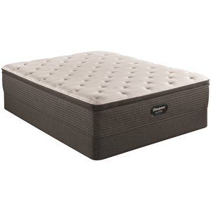 "Twin 14 3/4"" Medium Pillow Top Pocketed Coil Mattress and 9"" Foundation"