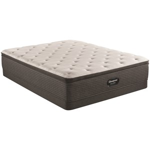 "Queen 14 3/4"" Medium Pillow Top Pocketed Coil Mattress and 5"" Low Profile Foundation"