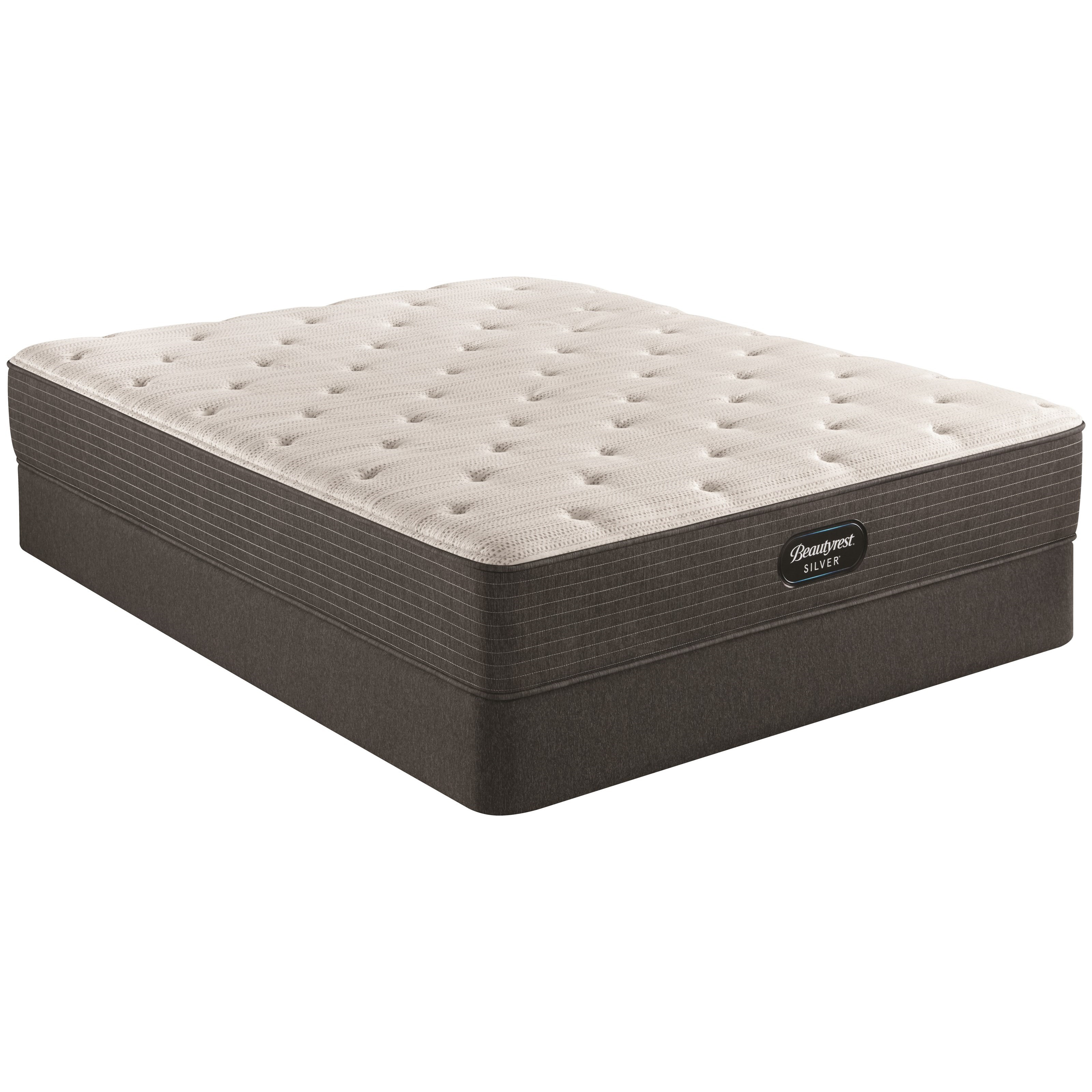"BRS900 Plush Cal King 12"" Pocketed Coil Mattress Set by Beautyrest at HomeWorld Furniture"