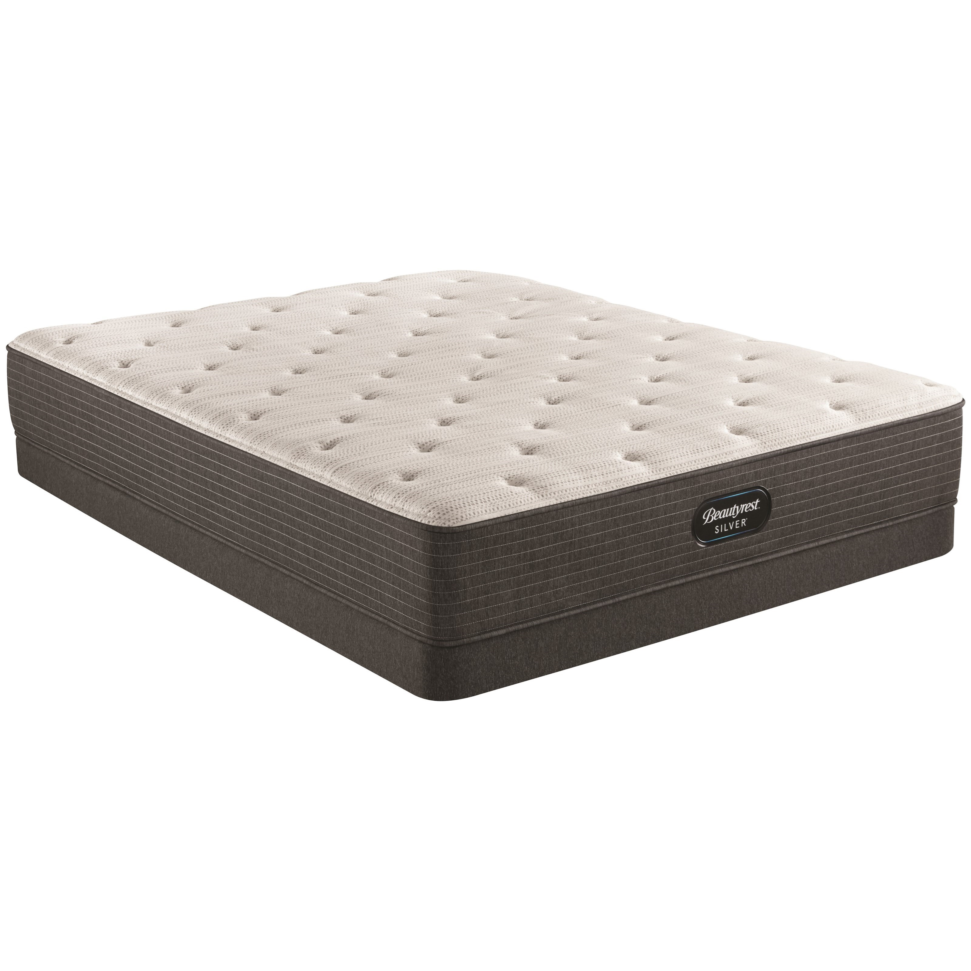 "BRS900 Plush Cal King 12"" Pocketed Coil Low Pro Set by Beautyrest at SlumberWorld"