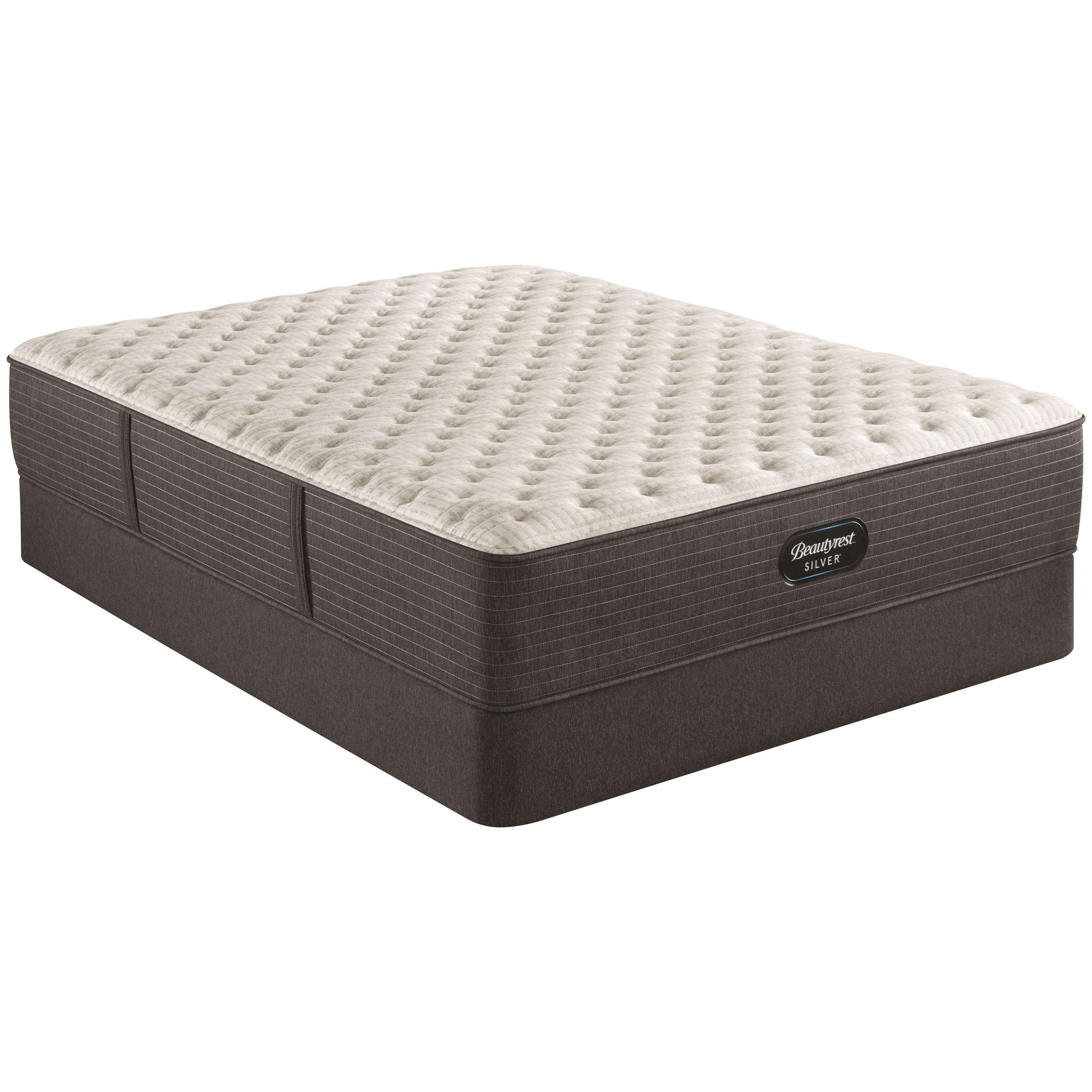 """BRS900-C XF Cal King 13 3/4"""" Pocketed Coil Mattress Set by Beautyrest at Darvin Furniture"""