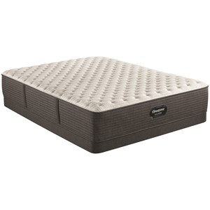 "Cal King 13 3/4"" Extra Firm Pocketed Coil Mattress and 5"" Low Profile Foundation"
