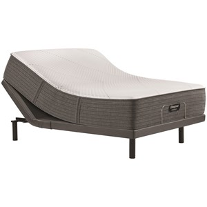"""Twin Extra Long 13 1/2"""" Extra Firm Hybrid Mattress and Advanced Motion Adjustable Base"""