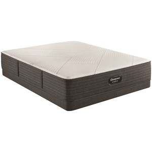 "Queen 13 1/2"" Plush Hybrid Mattress and 5"" Low Profile Foundation"