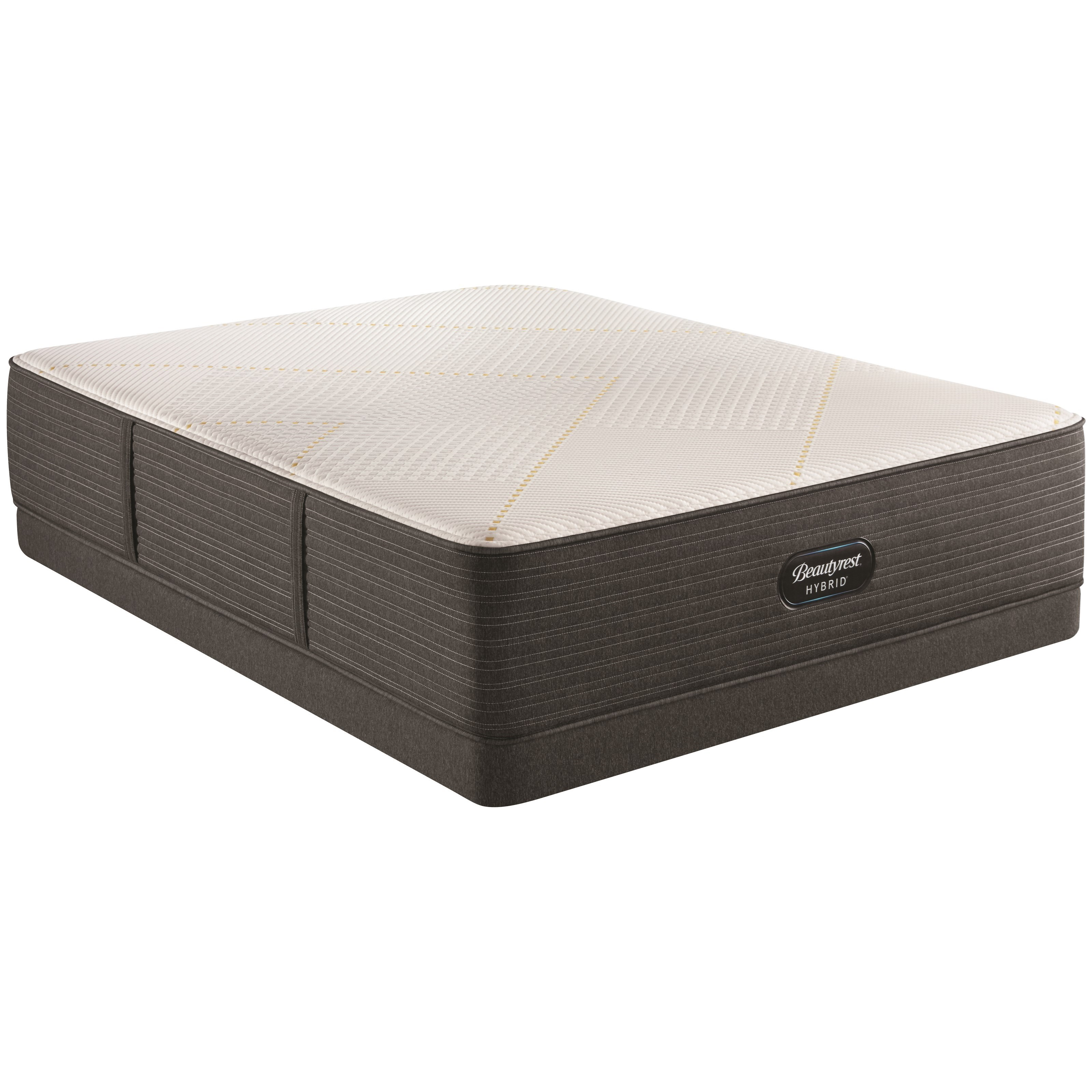 "BRX3000-IM Ultra Plush Hybrid Queen 14 1/2"" Hybrid Low Profile Set by Beautyrest at HomeWorld Furniture"