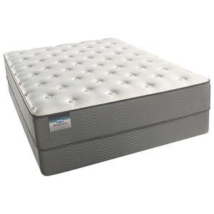 "Queen Plush 11 1/2"" Pocketed Coil Mattress and Triton Lite Foundation"