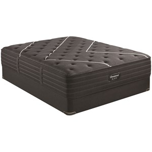 "Queen 13 3/4"" Medium Premium Mattress and BR Black 9"" Foundation"