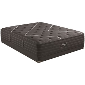 "Queen 13 3/4"" Plush Premium Mattress and BR Black 5"" Low Profile Foundation"
