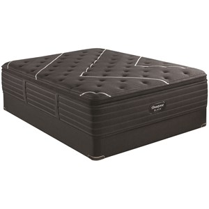 "King 17 1/2"" Firm Pillow Top Coil on Coil Premium Mattress and BR Black 9"" Foundation"