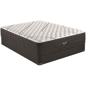 "Full 13 3/4"" Extra Firm Pocketed Coil Premium Mattress and BR Black 9"" Foundation"