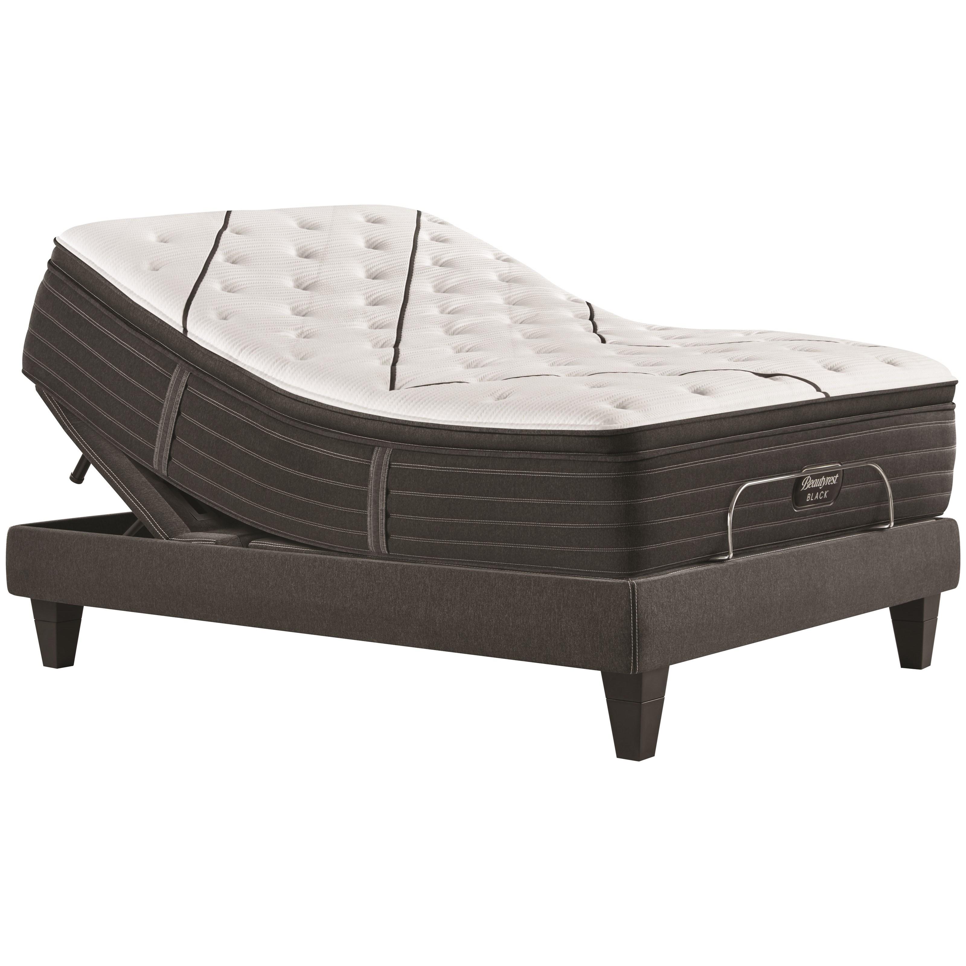 """L-Class Medium Pillow Top Twin XL 15 3/4"""" Premium Adj Set by Beautyrest at HomeWorld Furniture"""