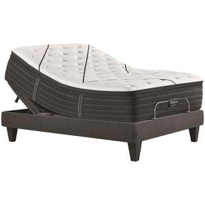 "Queen 15 3/4"" Medium Pillow Top Premium Mattress and Luxury Adjustable Base"