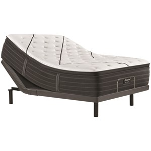 "Queen 15 3/4"" Plush Pillow Top Premium Mattress and Advanced Motion Adjustable Base"