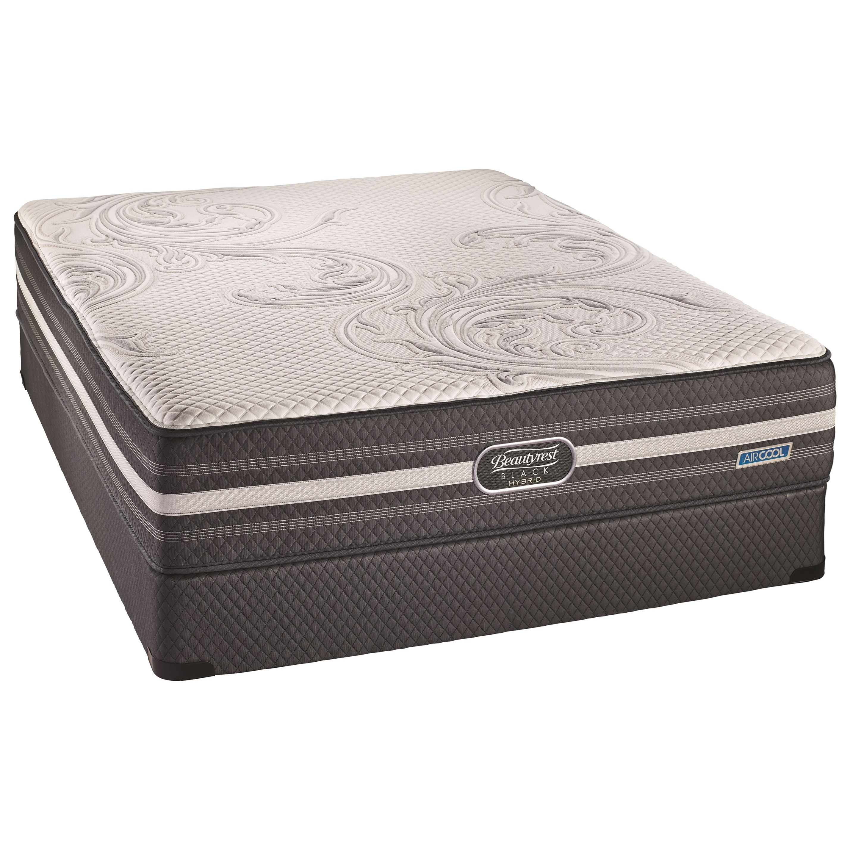 BR Black Hybrid Valentina Lux Firm Twin XL Luxury Firm Hybrid Mattress Set by Beautyrest Canada at Jordan's Home Furnishings