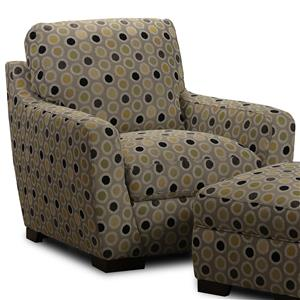 Patterned Upholstered Accent Chair