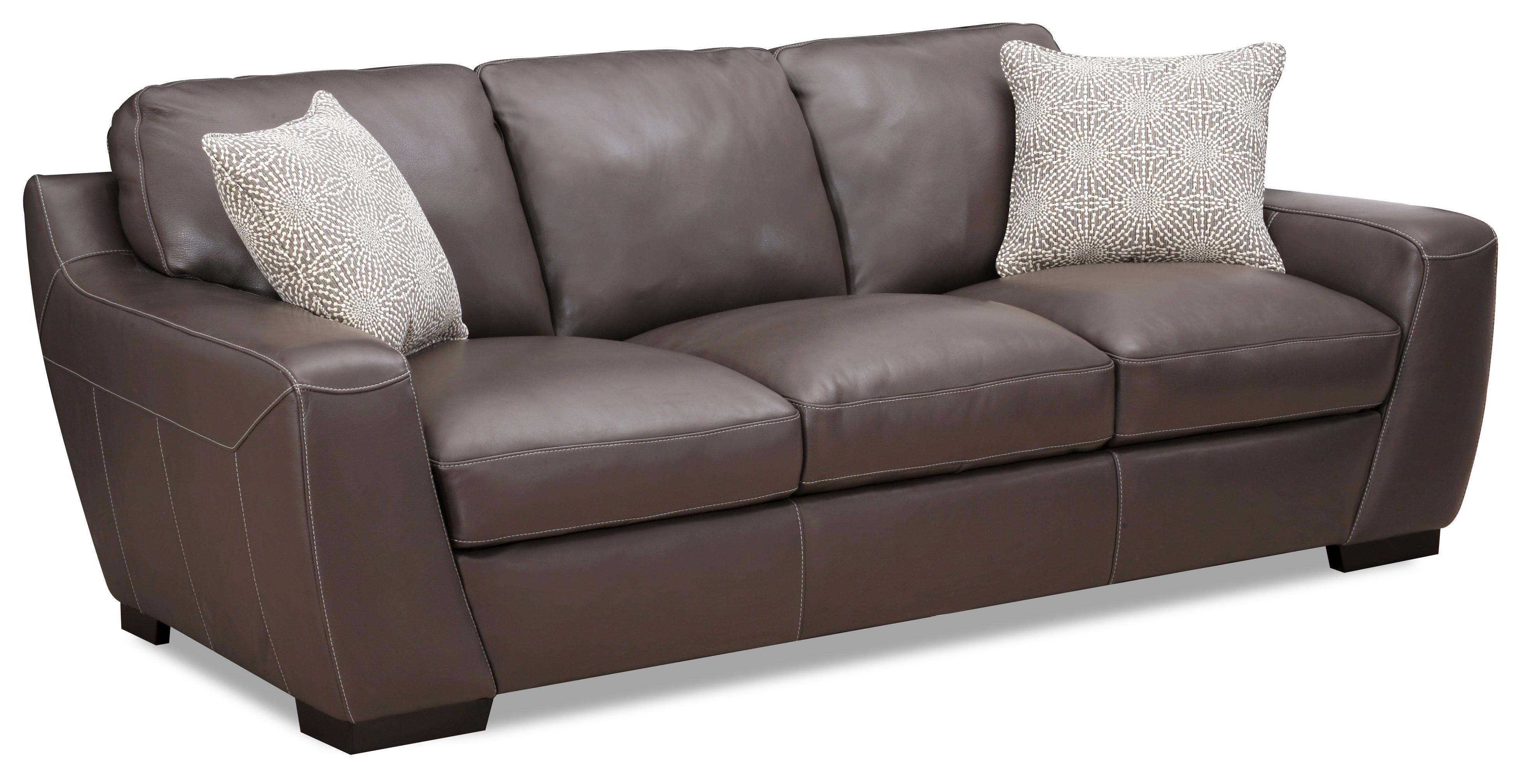 Alpha Stationary Leather Match Sofa by Simon Li at Dean Bosler's