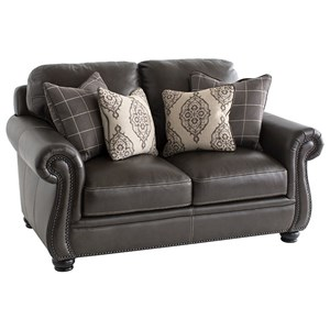 Traditional Love Seat with Nailhead Trim
