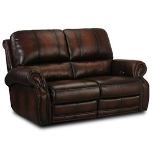 Hillsboro Leather Reclining Loveseat
