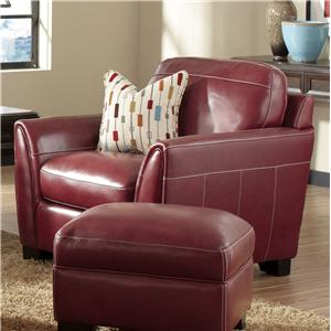 Contemporary Leather Arm Chair