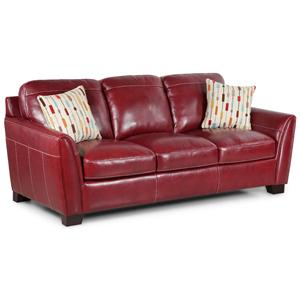 Contemporary Leather Stationary Sofa