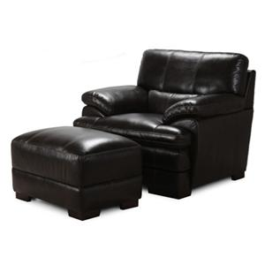 Casual Chair and Ottoman Set