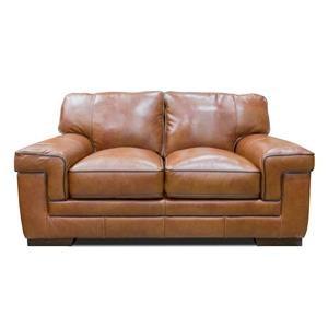 Chestnut Leather Loveseat