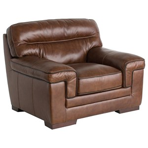 Casual Chair with Wrap-Around Pillow Arms