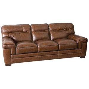Casual Sofa with Wrap-Around Pillow Arms