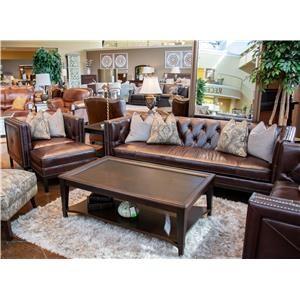 Simon Li Manhattan Cordovan Leather Sofa, Chair, and Ottoman