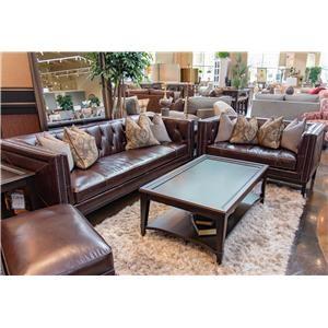 Simon Li Manhattan Cordovan Leather Sofa & Loveseat