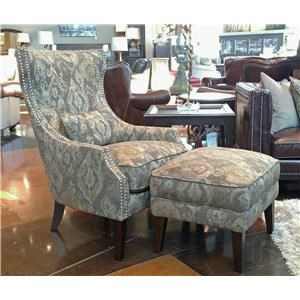Simon Li Manhattan Menjikat Accent Chair & Ottoman