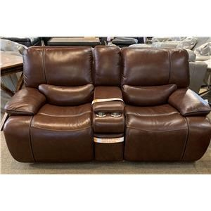 Longhorn Reclining Leather Loveseat