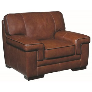 Contemporary Leather Match Chair