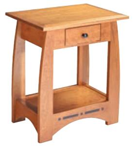 Aspen Bedside Table with Drawer by Simply Amish at Becker Furniture