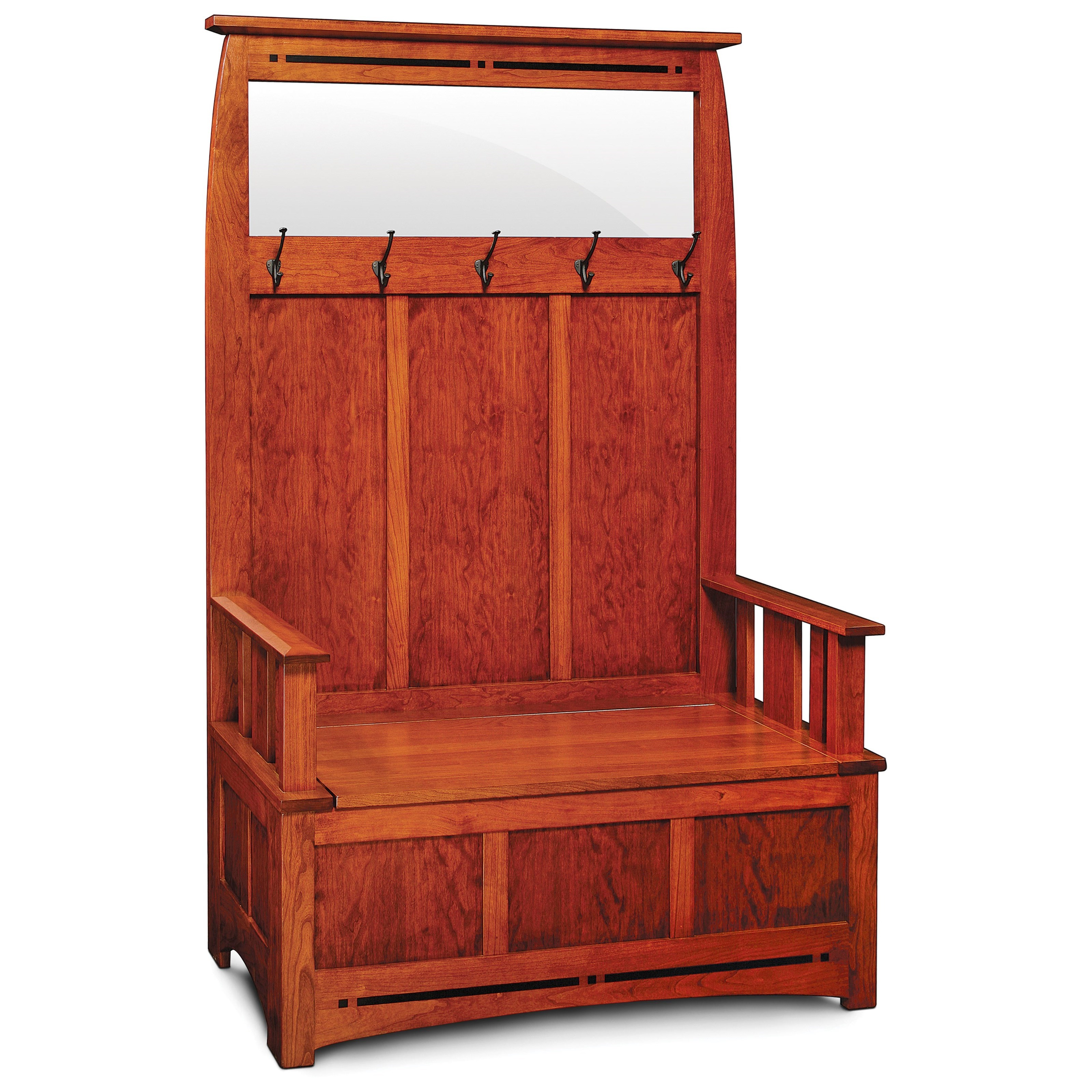 Aspen Hall Storage Bench by Simply Amish at Becker Furniture