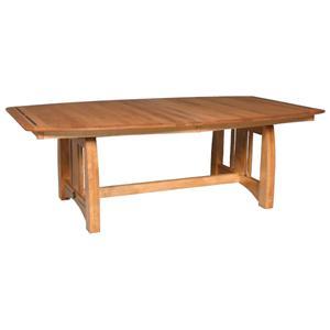 Simply Amish Aspen Table with Ebony Inlay