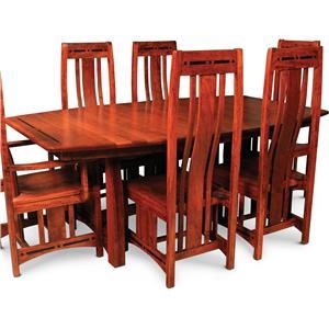 Simply Amish Aspen Msa4880 4 C26 Trestle Table W Ebony
