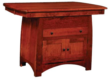 """Aspen 54"""" Island Table by Simply Amish at Becker Furniture"""